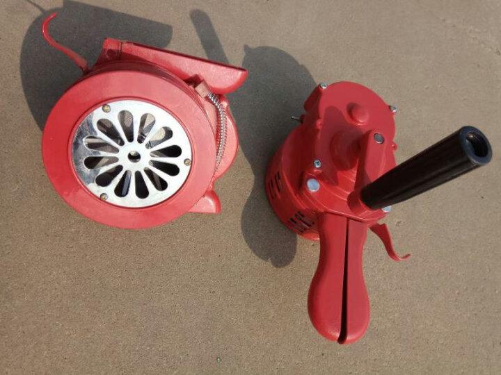 迪恪赛威 手摇报警器固定式高分贝防火防空报警器便携手动式警报器 训练演习用 绿色 手摇报警器 晒单图