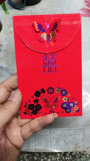幽幽兔结婚用品婚庆红包加厚大容量礼金创意立体红包袋婚庆利是封婚礼用品硬纸彩金红包 长方形百元一包10个 晒单图