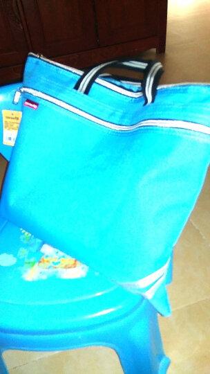 天色拉链文件袋手提帆布多层公文袋拉补课资料袋a4会议包男女公文包学生档案包培训袋文件包 粉色  大容量 晒单图