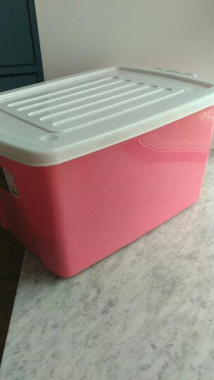 禧天龙 时尚整理箱 箱体加固更耐用 密封性好 收纳箱 储物箱 【沃尔玛】 50L 蒂梵红 晒单图