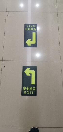 深中义 消防荧光安全出口直行夜光地贴 疏散标识指示牌方向指示牌小心地滑台阶 夜光安全出口右箭头(墙贴) 晒单图