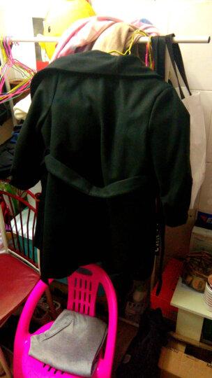 碁桐 毛呢大衣女2019秋冬新款女装中长款毛呢外套女士呢子外套学生韩版时尚修身大码格纹 卡其(加棉加厚) S 晒单图