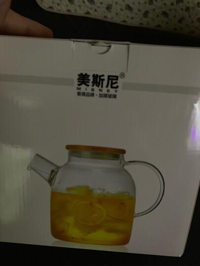 美斯尼 泡茶壶耐热玻璃茶具花果茶壶冷凉水壶不锈钢过滤网茶水杯子茶盘加厚明火耐高温加热煮茶器大容量套装 单壶1600毫升 ( 4-6人 ) 晒单图