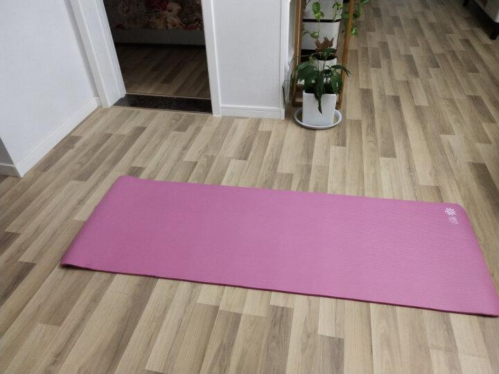 奥义 瑜伽垫 高密度丁腈橡胶加厚加长男女健身垫 防滑运动垫子 玫红(含绑带网包) 晒单图