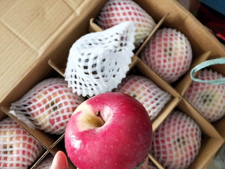 潘苹果 甘肃天水红富士苹果 9个 一级铂金果 2kg 单果210g-230g  自营水果 晒单图