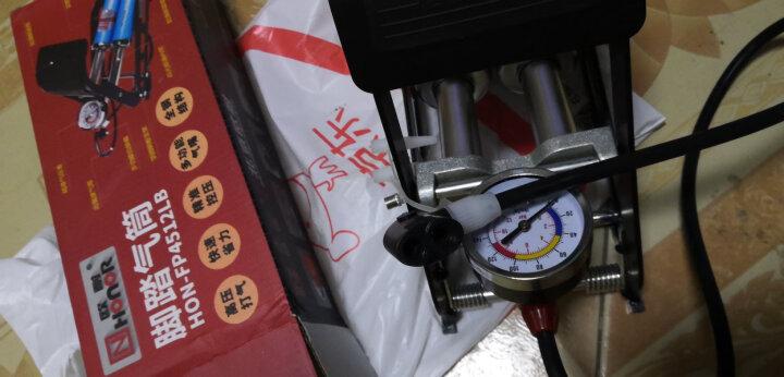 欧耐 NHONOR 脚踏高压便携式打气筒 自行车电动车摩托车汽车脚踩充气泵4512 晒单图