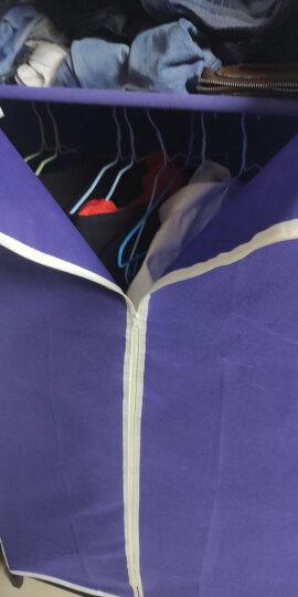 溢彩年华 布衣柜钢管加粗加固衣橱 简易衣柜无需工具组装布柜75*45*160cm卡其色 DKB2-032-KH 晒单图