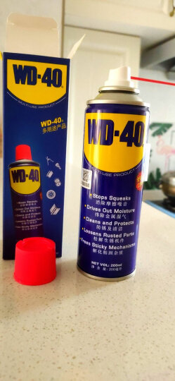 wd-40除锈润滑剂防锈润滑油机械门锁润滑油wd40螺丝松动剂缝纫机油自行车摩托车链条油200ml添加剂 晒单图