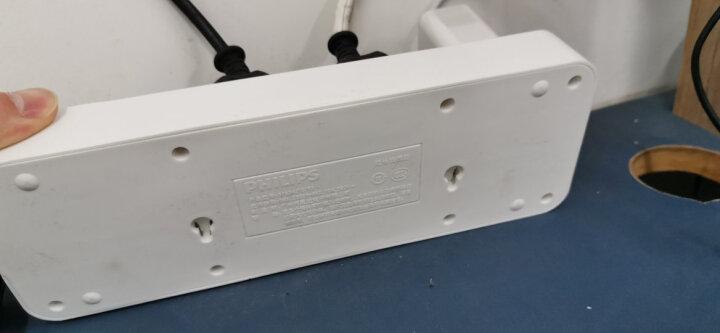 飞利浦(PHILIPS)新国标USB智能插座 3USB+3孔位分控 2.4A智能快充 1.8米 插线板/插排/排插/接线板/拖线板 晒单图