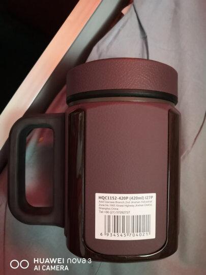 万象(WANXIANG)I27P 420ML紫砂内胆茶杯 男士商务办公泡茶杯 带茶漏滤网带手柄 棕木灰 晒单图