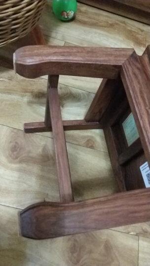 DONG FANG 红木家具非洲花梨(学名:刺猬紫檀小椅子 凳子 板凳 方凳 休闲椅 412刺猬l紫檀小椅子 晒单图