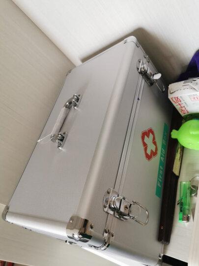 金隆兴(Glosen)医药箱家用急救箱出诊箱医疗收纳箱双层带锁铝合金家庭药箱 12寸B016-1 晒单图