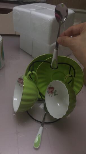 卡布奇诺咖啡杯套装欧式陶瓷咖啡杯碟整套家用英式下午茶茶具套装客厅红茶杯具咖啡具带架子奢华乔迁结婚礼物 薄荷绿2件套 晒单图