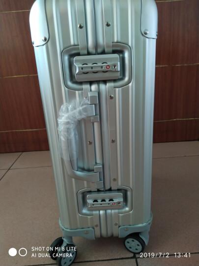 御旅全铝镁合金金属行李箱男万向轮商务拉杆箱女20寸旅行箱硬箱登机箱 银色铝镁合金 20英寸 晒单图