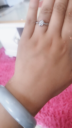 佐卡伊 邂逅 钻戒钻石结婚女戒求婚戒指可裸钻定制 80分效果D-E/VVS 少量现货 晒单图