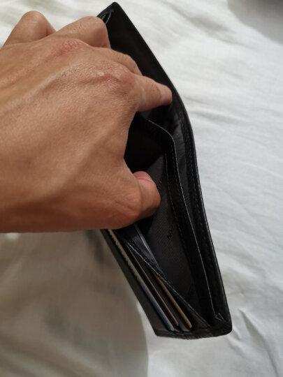 稻草人MEXICAN男士商务休闲头层牛皮竖款钱包时尚简约钱夹啡色30219-04 晒单图