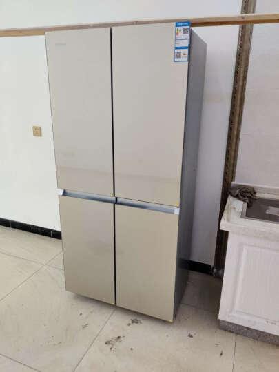 康佳(KONKA)330升 十字对开门冰箱 四门家用 家电 水波纹钢化玻璃面板 保鲜静音BCD-330BX4S 晒单图