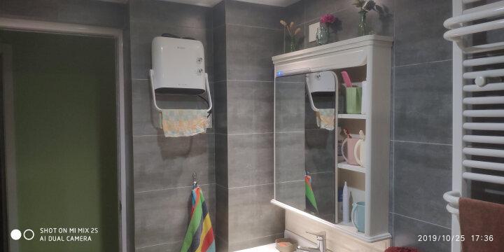 格力(GREE)暖风机家用浴室防水壁挂取暖器电暖气台式宝宝孕妇安全干衣冷暖两用NBFB-20-WG 果绿 晒单图