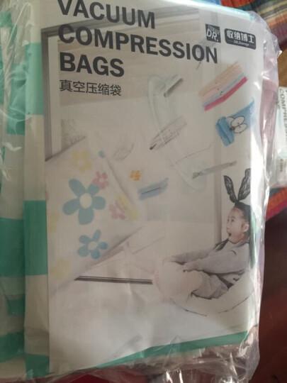 收纳博士真空压缩袋衣物收纳旅行整理袋 太阳花款小号 70*50 8枚装配手泵电泵 晒单图