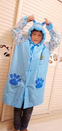 如诺 学生儿童雨衣带书包位男女宝宝防水加厚雨披小孩卡通图案雨披充气帽檐 玫瑰红色-兔子 XXL(身高140cm-150cm) 晒单图