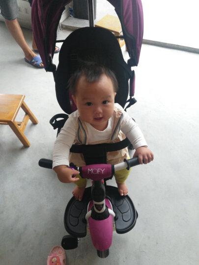 小虎子儿童三轮车脚踏车溜娃神车可折叠躺倒座位转向遛娃车小孩手推车1-3岁T300升级 薄荷绿(折叠款) 晒单图