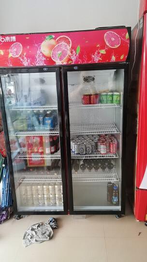 来博 饮料展示柜冷藏保鲜柜商用冰箱双门三开门立式水果保鲜柜无霜冰柜风冷直冷便利店超市冰柜冷饮卖水冰箱 (绿黑色 双门 618升 0到8度) 直冷 晒单图