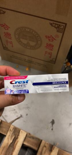 佳洁士牙膏美白3D炫白热感美白去烟渍牙膏2支装共232g 晒单图
