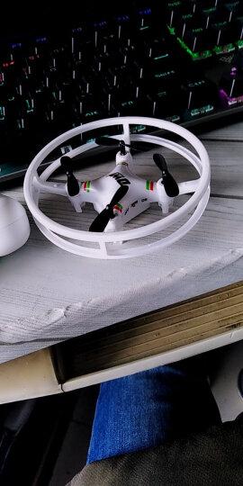 Dwi 【耐摔保护圈】便携迷你无人机手机遥控飞机高清航拍摇控直升机四轴飞行器航模男孩儿童玩具 白色-纸盒包装-无定高-无航拍 晒单图