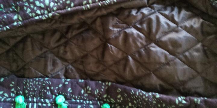 璞衣 2019冬装新款 女民族风复古女装外套棉麻风格风格中式青花长款棉衣棉服外套3041 藏青花 XL 晒单图