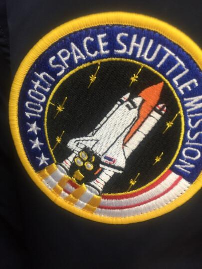 ALPHA INDUSTRIES 阿尔法工业NASA MA-1太空总署飞行夹克阿波罗飞行员夹克 蓝色太空总署厚款 S 晒单图