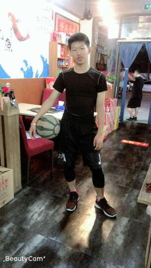 运动裤男士 AJ23篮球短裤夏季压缩健身紧身长裤过膝五分速干裤高弹打底七分裤篮球服 灵动白短裤+黑七分裤 XL(175-180高.135-150斤) 晒单图