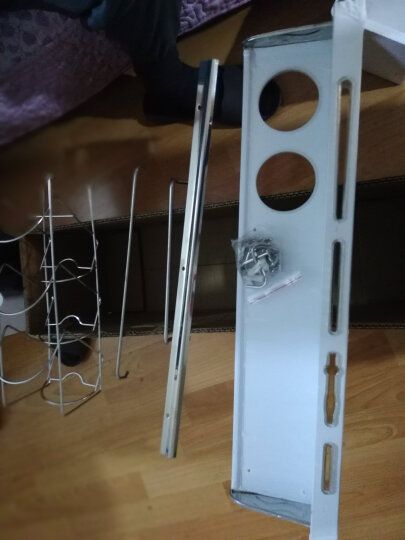 欧橡OAK 304不锈钢厨房置物架 壁挂厨房挂件刀架调料架杂物架多功能收纳架 60CM双杯带护栏 C083 晒单图