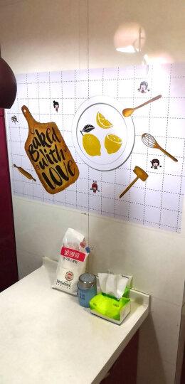 厨房防油贴纸耐高温厨房墙贴瓷砖贴纸防水墙贴可定制油烟机橱柜贴 快乐兔兔(侧吸款宽90*高30cm) 晒单图