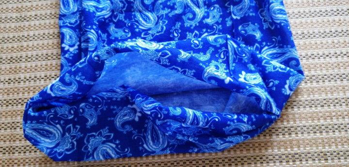 埃尔蒙特ALPINT MOUNTAIN 魔术头巾脖套 户外运动快干百变方巾吸湿排汗无缝围巾骑行街舞头巾 610-036 火焰黑 晒单图