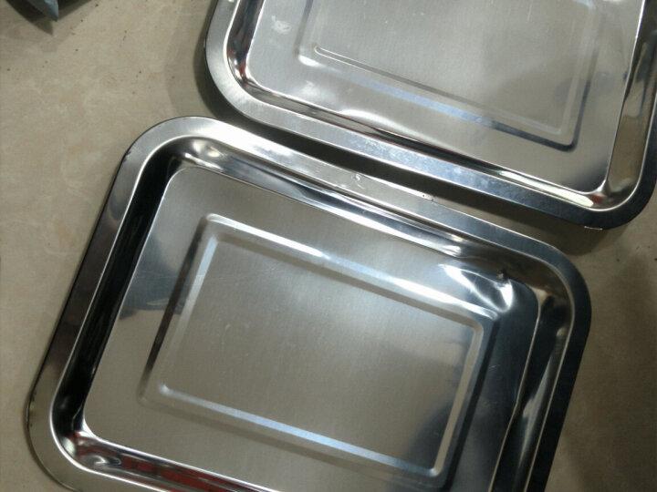 尚烤佳 不锈钢盘 烧烤盘 托盘 餐盘 烧烤工具配件二只装 晒单图
