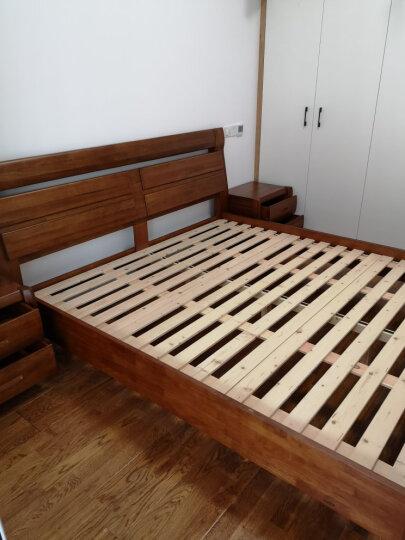 作木坊 床 实木床 卧室家具1.8米双人床现代简约新中式胡桃木实木储物床A303 小孩/老人床(1.2*1.9M)注意尺寸 1800*2000 晒单图