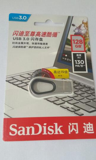闪迪(SanDisk)128GB USB2.0 U盘 CZ50酷刃 黑红色 时尚设计 安全加密软件 晒单图