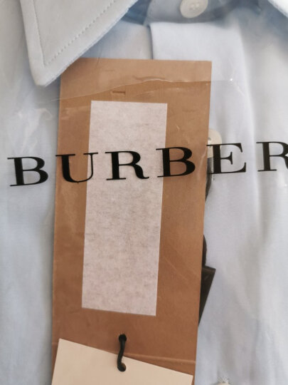 巴宝莉(BURBERRY)男装 奢侈品衬衫棉府绸纯色长袖衬衣 棉府绸8020863 180/L/16码 晒单图