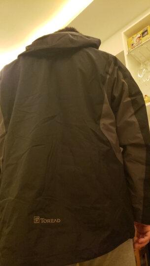 探路者(TOREAD)冲锋衣 三合一户外男女款抓绒两件套 保暖防寒防泼水外套 TAWE91603 铁蓝灰/藏蓝(男) L 晒单图