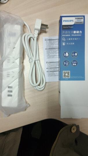 飞利浦(PHILIPS)新国标多功能USB智能插座 插线板/插排/排插/接线板/拖线板 3USB+4孔位2.4A快充1.8米 晒单图