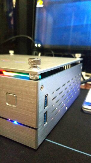 SKTC XQBOX A01铝外壳铁架构机箱HTPC卧式电脑机箱ITX迷你小机箱工控机箱 A01银色(顶盖玻璃款) 晒单图