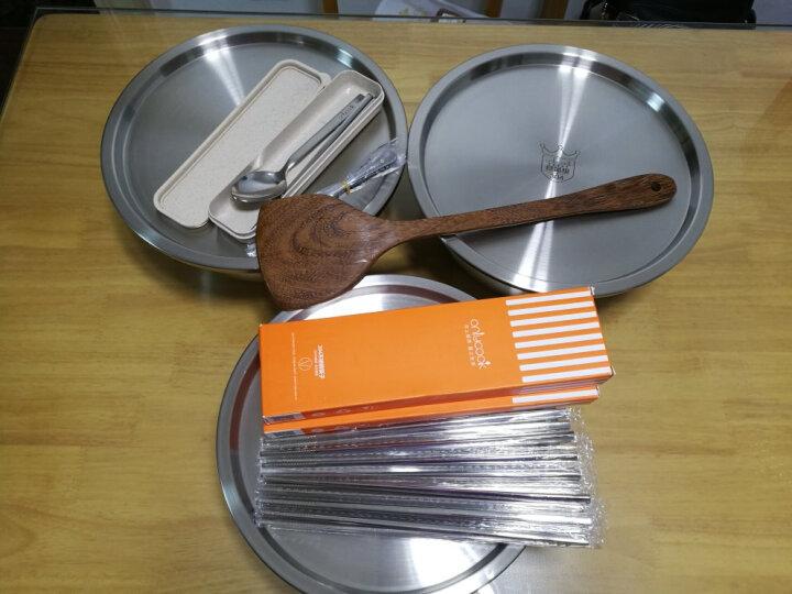 onlycook 便携餐具304不锈钢 筷子勺子旅行学生筷勺三件套餐具套装 B款小号 晒单图