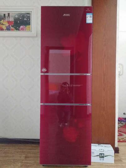 航天民生(HTminsheng) BCD-232  232升 三门冰箱 中门软冷冻 三门三温区电冰箱 芙蓉红 晒单图