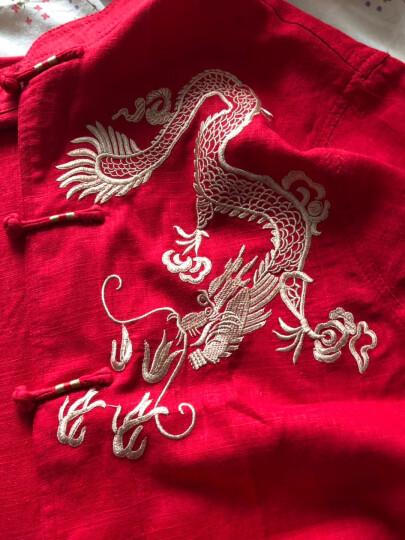 夹棉加厚中老年唐装男女长袖冬季爸爸妈妈爷爷奶奶装夹克外套老人生日过寿衣服中国风婚礼宴会喜庆服装 圆福暗红-(夹棉上衣) 180-(男式尺码) 晒单图