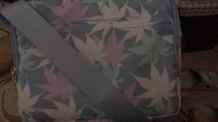 SKADI韩版10口袋时尚女包休闲防水尼龙印花包时尚斜挎包女潮款女士包包 动物公园 晒单图