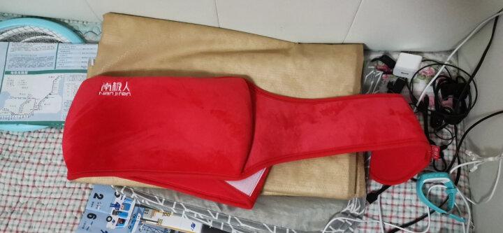 南极人智能充电暖腰带 暖腰宝毛绒护腰带含热水袋暖水袋暖手宝电暖宝宝电暖贴身保暖 防爆水电分离 红色 晒单图