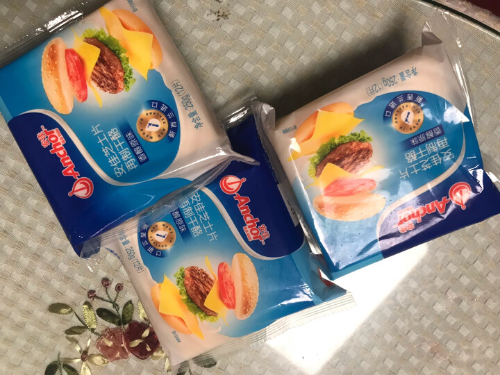 安佳(Anchor)切达再制干酪  芝士片 高钙 100g  新西兰进口(2件起售) 晒单图