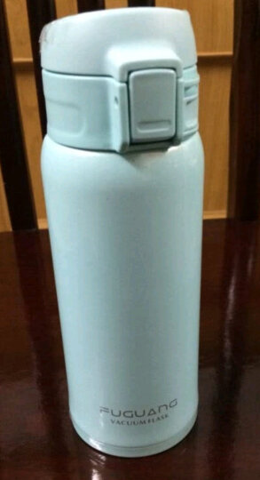 富光 保温杯350ml男女士不锈钢真空焖烧杯弹盖车载水杯儿童泡茶杯子 蓝色350ml 晒单图