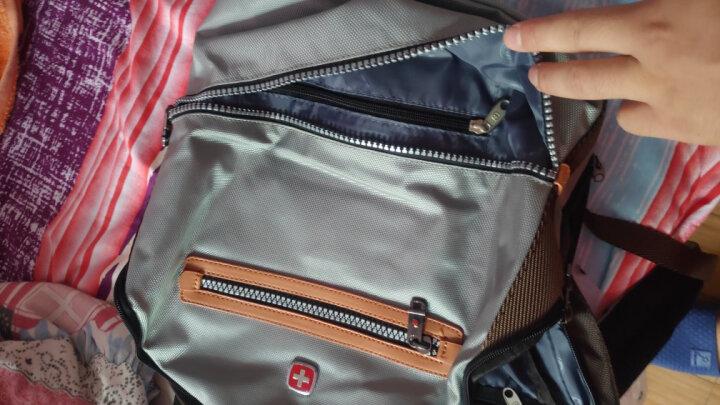 SWISSGEAR双肩包 韩版商务时尚休闲双肩背包14英寸笔记本电脑包男书包旅行包SA-9909 苍宝石绿色 晒单图