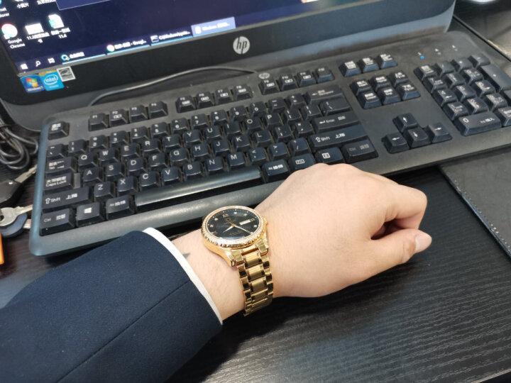 七夕礼物|嘉年华(Carnival)手表男士机械表时尚商务夜光防水双日历男表8629 全金黑面钢带 晒单图